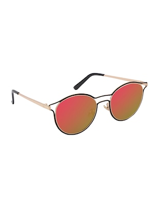 REACTR- New Arrival Mirror Pink Round HD Polarized Sunglasses For Women - 14438122 - Standard Image - 2