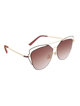 REACTR- New Arrival Brown Gradient Cat Eye HD Polarized Sunglasses For Women - 14438126 - Standard Image - 2