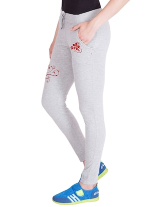 grey cotton track pants - 14439067 - Standard Image - 2
