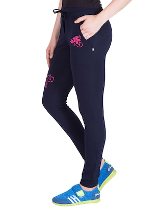 navy blue cotton track pants - 14439075 - Standard Image - 2