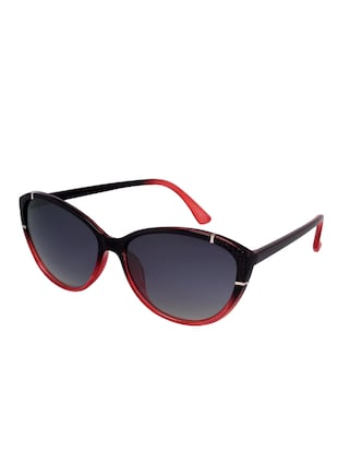 Superray CY962-BK-RED Black and Red Cateye Sunglasses for Women - 14439146 - Standard Image - 2