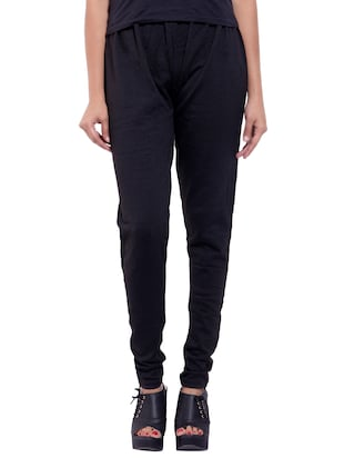 black woolen leggings