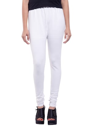 white woolen leggings