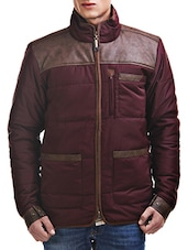 brown polyester casual jacket -  online shopping for Casual Jacket