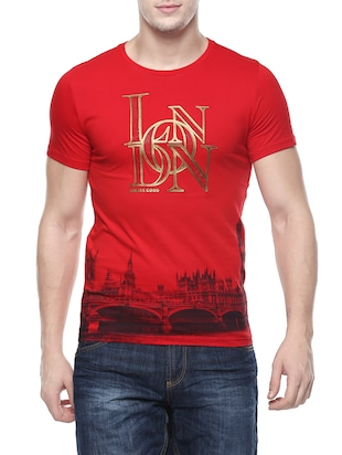 red viscose t-shirt -  online shopping for T-Shirts