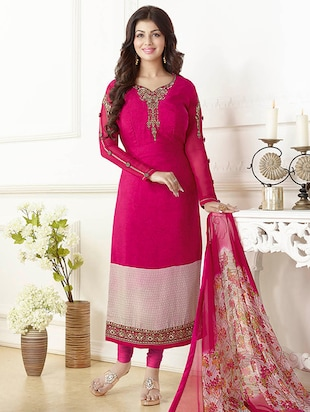 pink churidaar  suits dress material