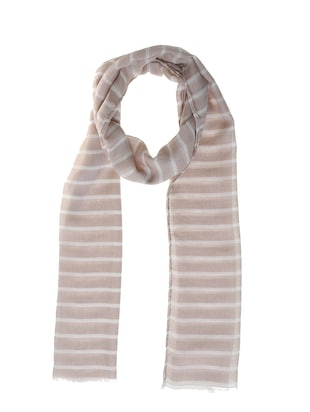 beige polyester scarf