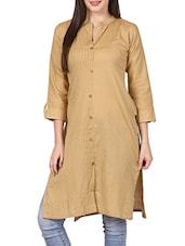 beige cotton straight kurta -  online shopping for kurtas