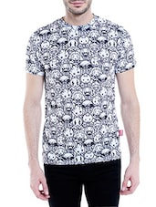 white polyester all over print tshirt -  online shopping for T-Shirts