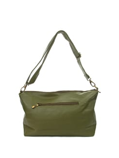 Olive Green Faux Leather Hobo Bag - ALESSIA