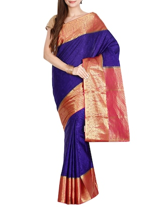 The Chennai Silks blue mysore silk saree