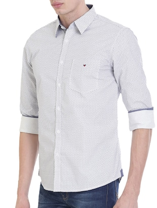 white cotton casual shirt - 14457625 - Standard Image - 2