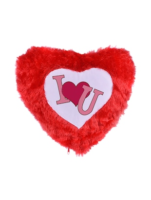 "Heart Shape ""Love"" Printed Cushions Cover - 14458334 - Standard Image - 2"