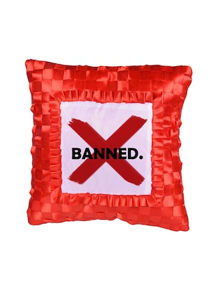 Square Shape Banned Printed Cushions Cover - 14458449 - Standard Image - 2