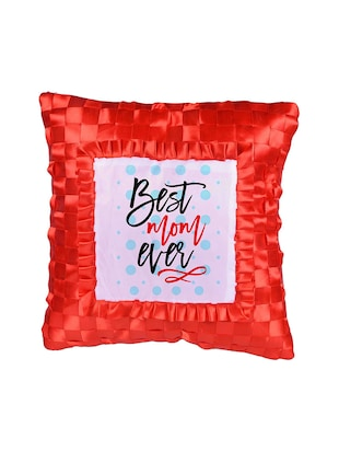 "Square Shape ""Best Mom Ever"" Printed Cushions Cover - 14458512 - Standard Image - 2"