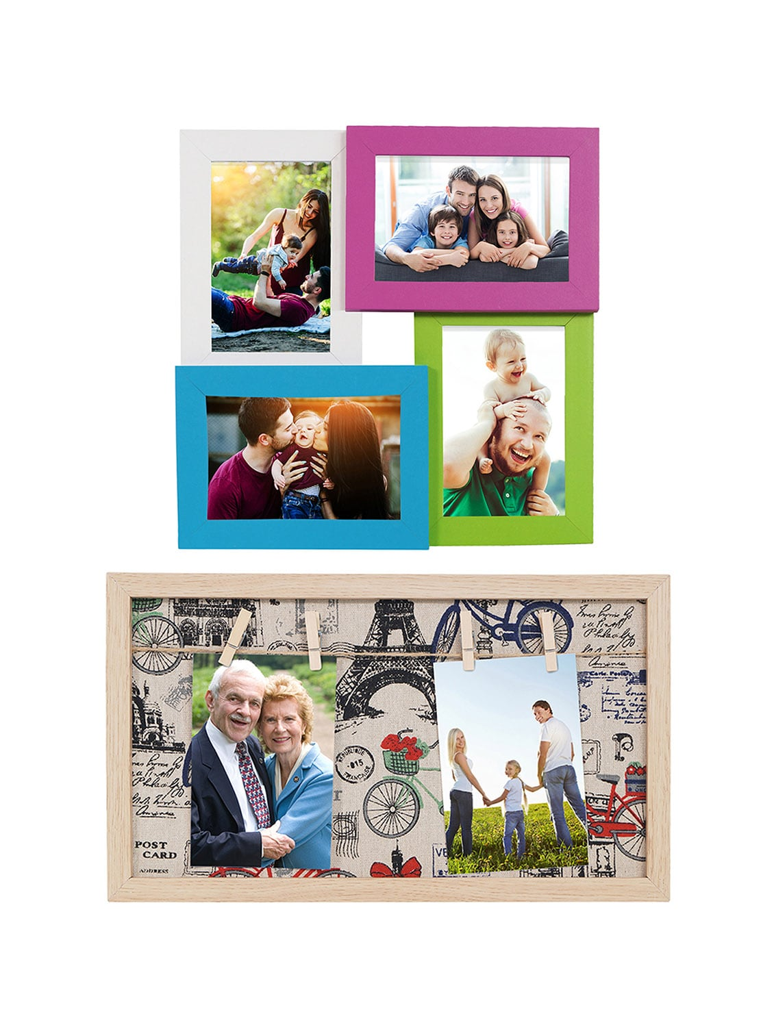 Pack of 2 Wooden Table Top & Wall hanging Frames