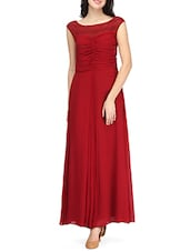 Maroon gown dress -  online shopping for Dresses