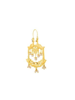 gold metal other earring - 14460536 - Standard Image - 2