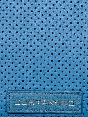 blue leather regular pouch - 14461342 - Standard Image - 5