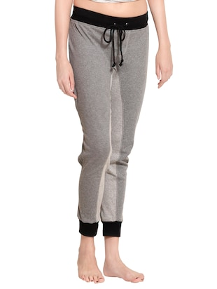 grey cotton track pants - 14461754 - Standard Image - 2