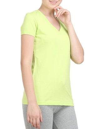 green cotton tee - 14462204 - Standard Image - 2