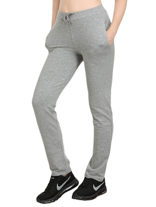 Grey cotton track pant - 14462291 - Standard Image - 2