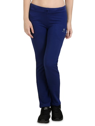 Navy blue cotton track pants