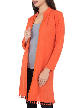 orange wool shrug - 14462682 - Standard Image - 2