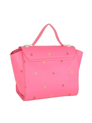 pink leatherette  regular sling bag - 14464099 - Standard Image - 2