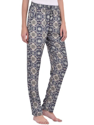 blue printed cotton pajama - 14464496 - Standard Image - 2