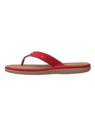red leatherette slippers - 14464603 - Standard Image - 2