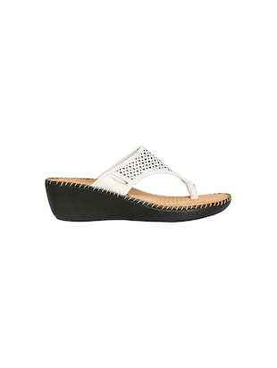 white leatherette slippers - 14464636 - Standard Image - 2