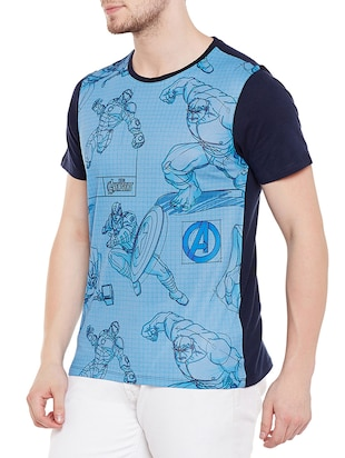 blue cotton character  t-shirt - 14467266 - Standard Image - 2