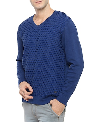 blue acrylic pullover - 14467868 - Standard Image - 2