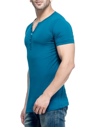blue cotton  t-shirt - 14468032 - Standard Image - 2
