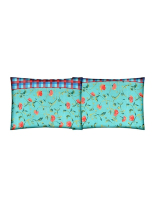 Floral Print Cotton Double Bedsheet with 2 Pillow Covers - 14469090 - Standard Image - 2