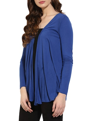 blue cotton shrug - 14469137 - Standard Image - 2