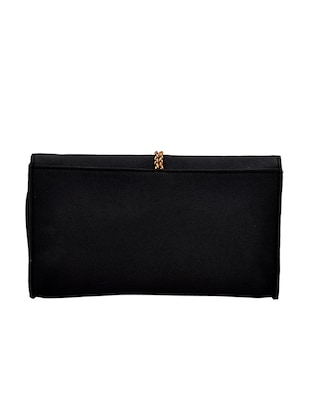 black leatherette regular clutch - 14469458 - Standard Image - 2