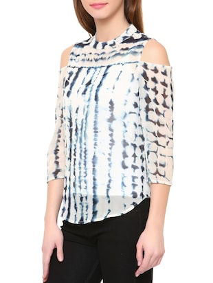 White tie and dye top - 14469614 - Standard Image - 2