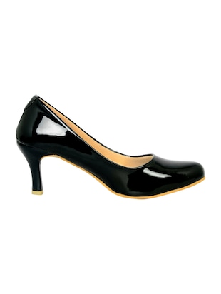 black polyester slip on pumps - 14469811 - Standard Image - 2