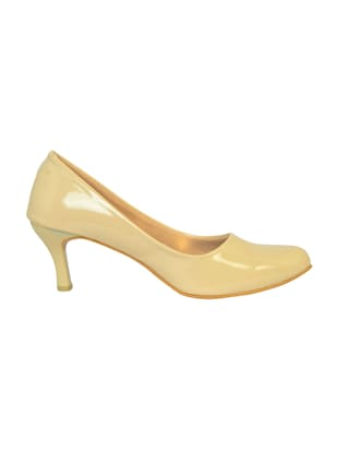 beige polyester slip on pumps - 14469813 - Standard Image - 2
