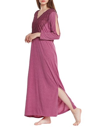 pink cotton gown - 14475009 - Standard Image - 2
