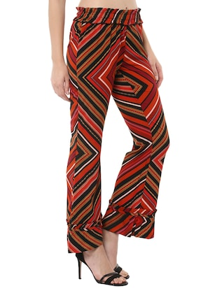 miway multi colored polyester trouser - 14476515 - Standard Image - 2