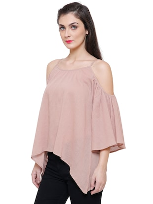 beige rayon casual top - 14477741 - Standard Image - 2