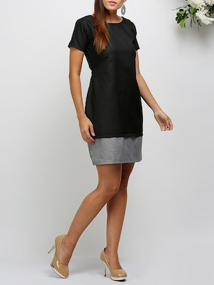 short sleeved a-line dress - 14478532 - Standard Image - 2