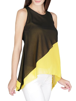 yellow Layered top - 14479543 - Standard Image - 2