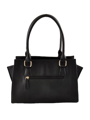 black leatherette  regular handbag - 14479887 - Standard Image - 2