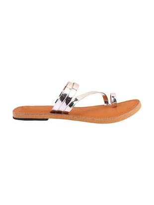 silver one toe sandal - 14482676 - Standard Image - 2