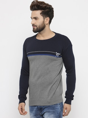 grey cotton pullover - 14484819 - Standard Image - 2