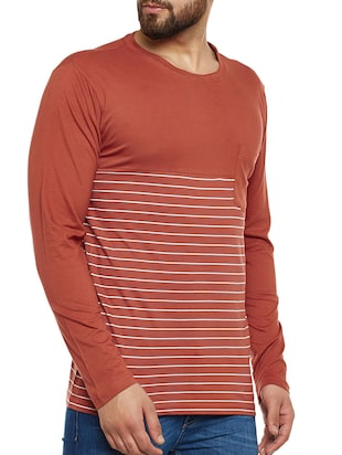 orange cotton pocket  t-shirt - 14485638 - Standard Image - 2